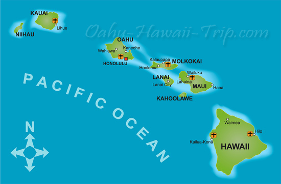 all about Hawaii Hawaii Map. All islands of the Hawaiian archipelago were